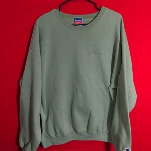 Vintage green champion script sweatshirt